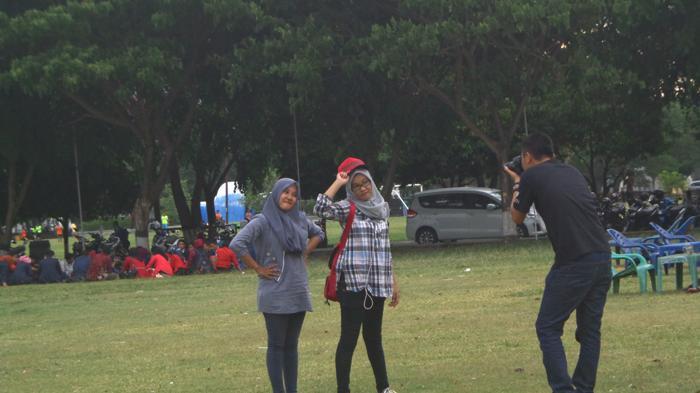 Serunya Pagi Blang Padang Jantung Kota Banda Aceh Tribunnews Lapangan
