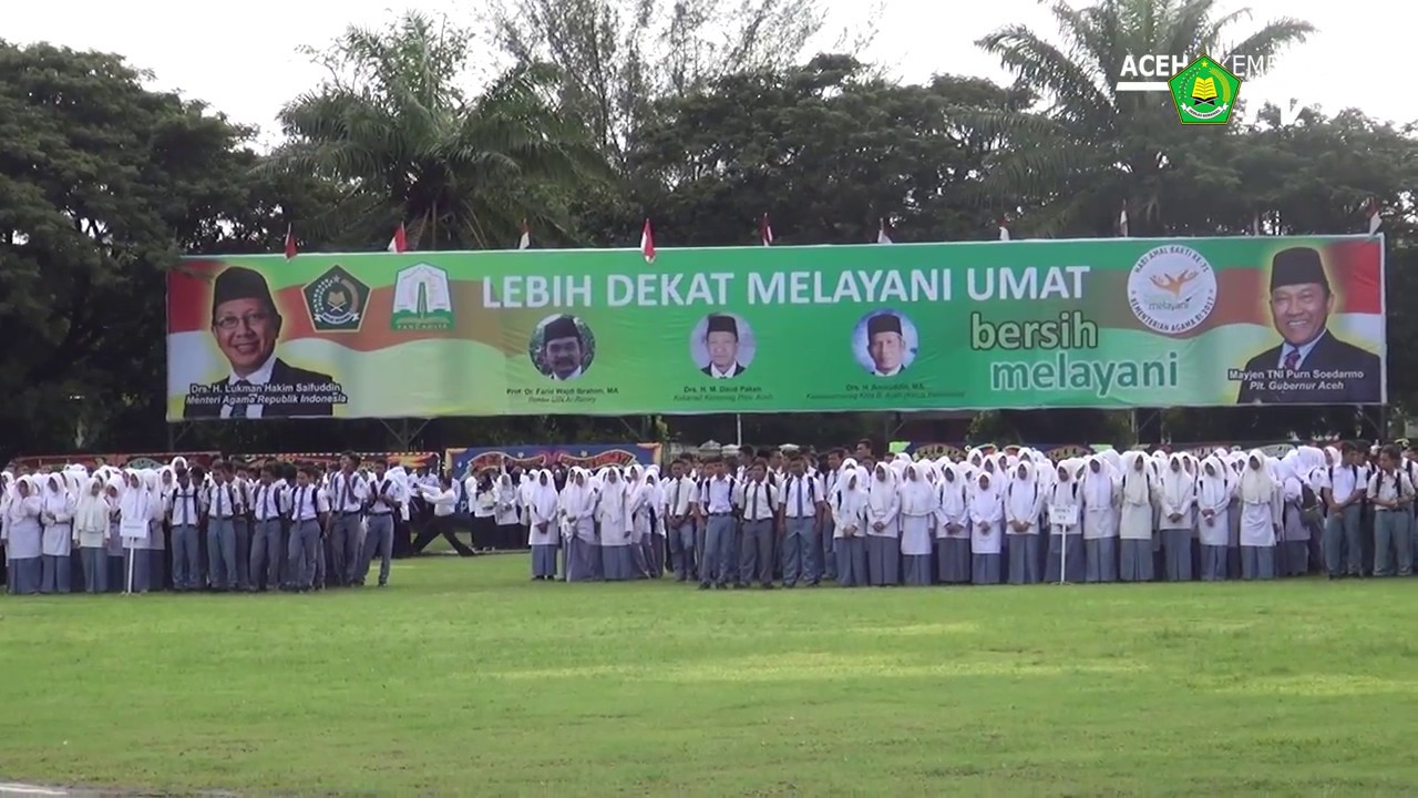 Upacara Hab 71 Kementerian Agama Lapangan Blang Padang Banda Aceh