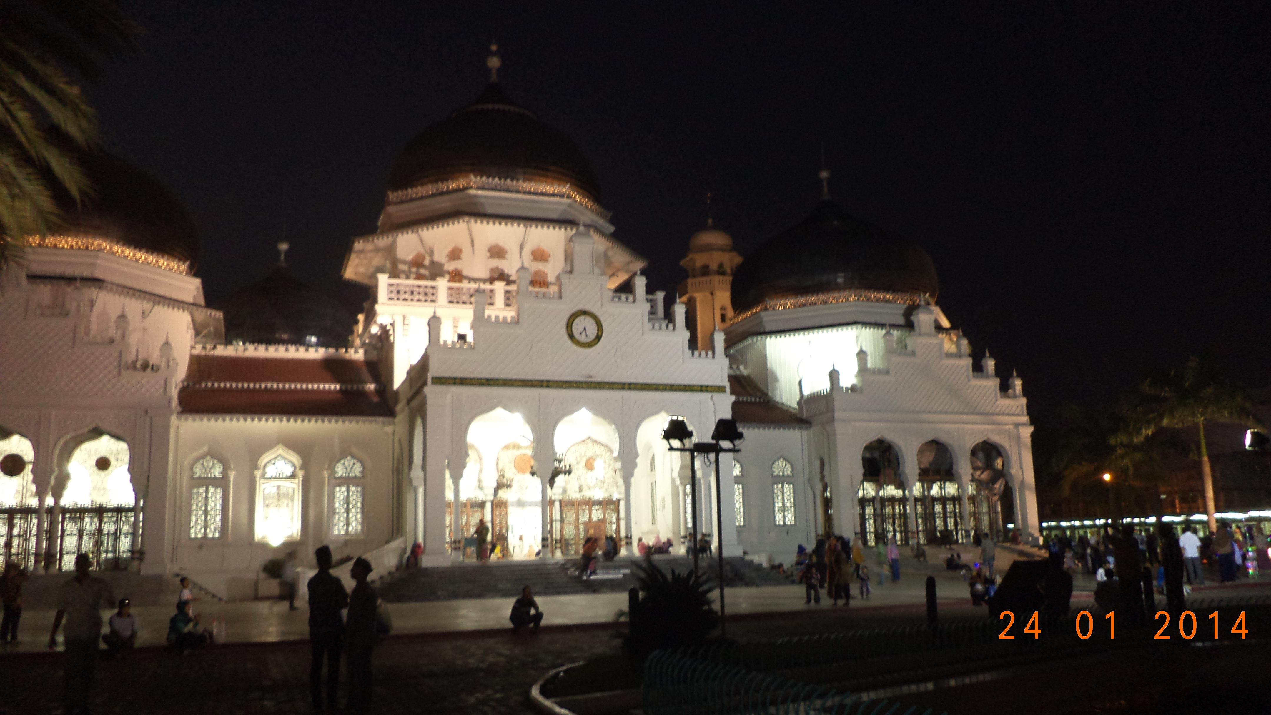 Pertamakali Banda Aceh Write Live Masjid Raya Baiturrahman Hasil Jepretan