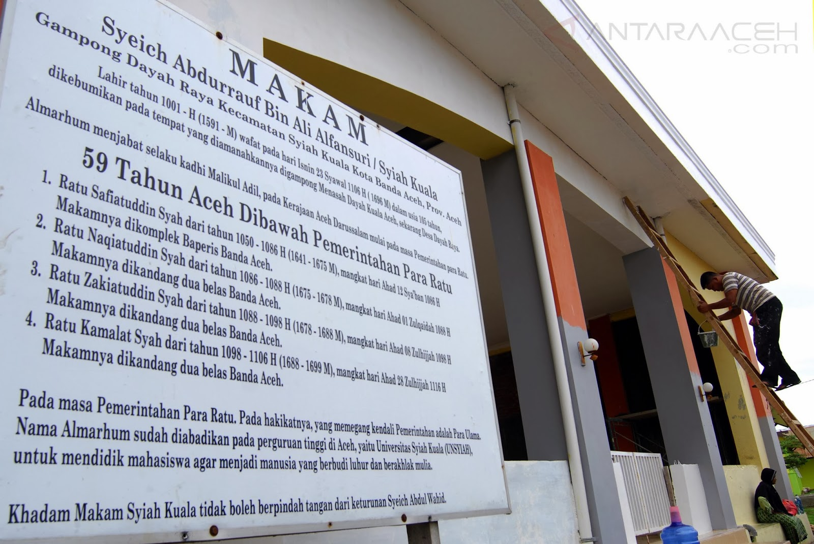 Perawatan Situs Syiah Kuala Antara Aceh Makam Ulama Besar Syeich
