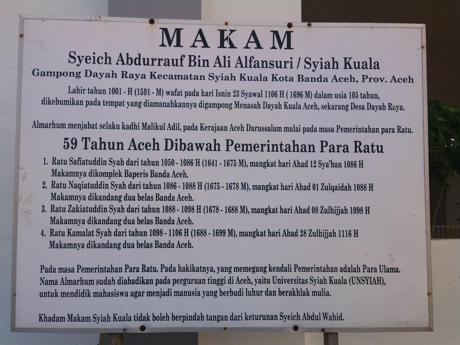 Shared Komplek Makam Syiah Kuala Banda Aceh Bukti Kedahsyatan Dekat