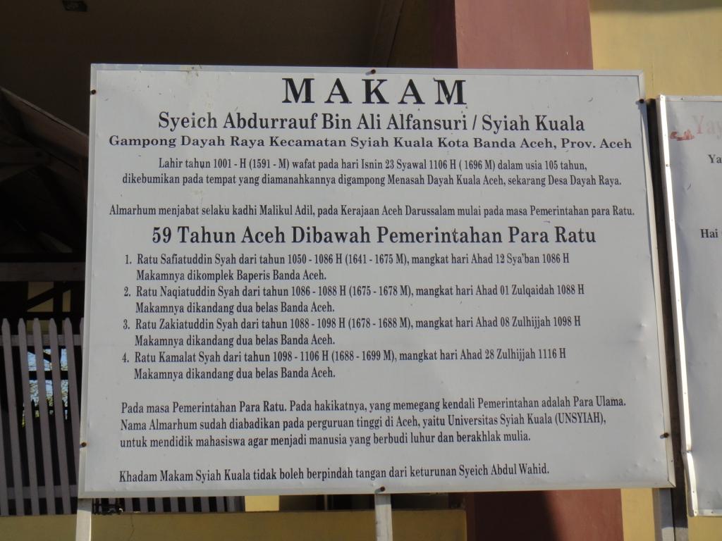 Sufi Road Berziarah Makam Syeh Kuala Syeikh Yusuf Tajul Mankatsi