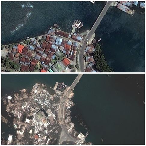 Architecture Design Foto Udara Kawasan Ulee Lheue Pra Paska Tsunami