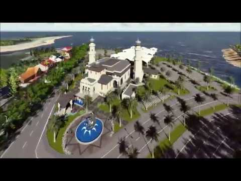 Desain 3d Masjid Baiturrahim Ulee Lheue Banda Aceh Saka Youtube