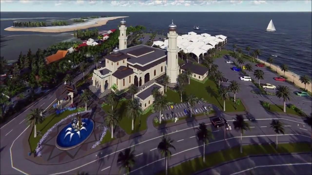 Masjid Baiturrahim 2 Ulee Lheue Banda Aceh Saka Youtube Kota