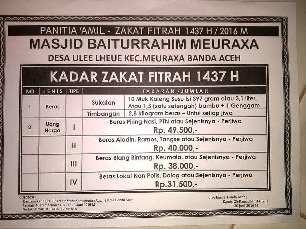 Selebaran Pengumuman Panitia Amil Zakat Fitrah Masjid Bait Flickr Baiturrahim