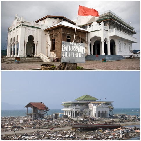 Story Baiturrahim Ulee Lheue Mosque Reflection Tsunami Occurred Aceh December
