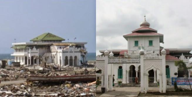 Unique Kondisi 5 Masjid Selamat Tsunami Aceh Keepo Baiturrahim Ulee