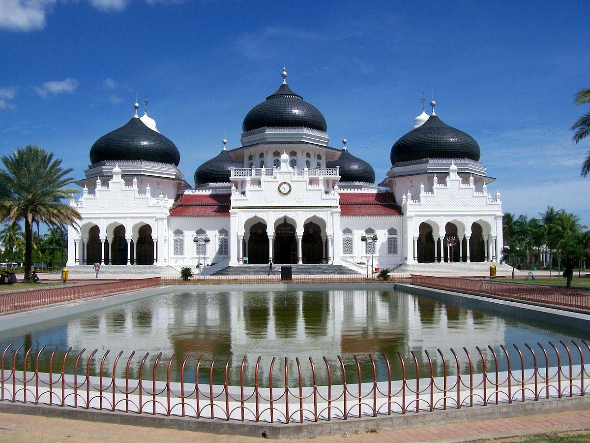 Baiturrahman Grand Mosque Wikipedia Masjid Raya Kota Banda Aceh