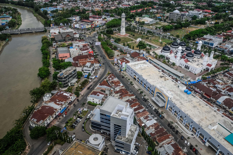 Banda Aceh Udara Charming Masjid Raya Baiturrahman Pusat Kota