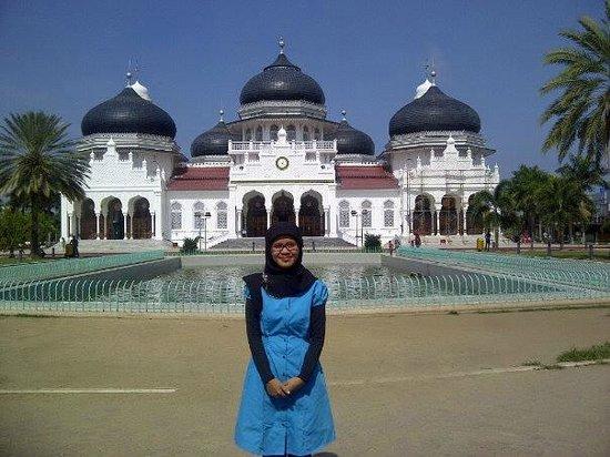 Depan Masjid Raya Baiturrahman Picture Grand Mosque Kota Banda Aceh