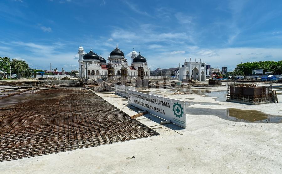 Foto Terbaru Suasana Masjid Raya Baiturrahman Serambi Indonesia Banda Aceh