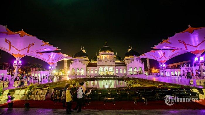 Inilah Wajah Masjid Raya Baiturrahman Banda Aceh 30 Lebih Suasana