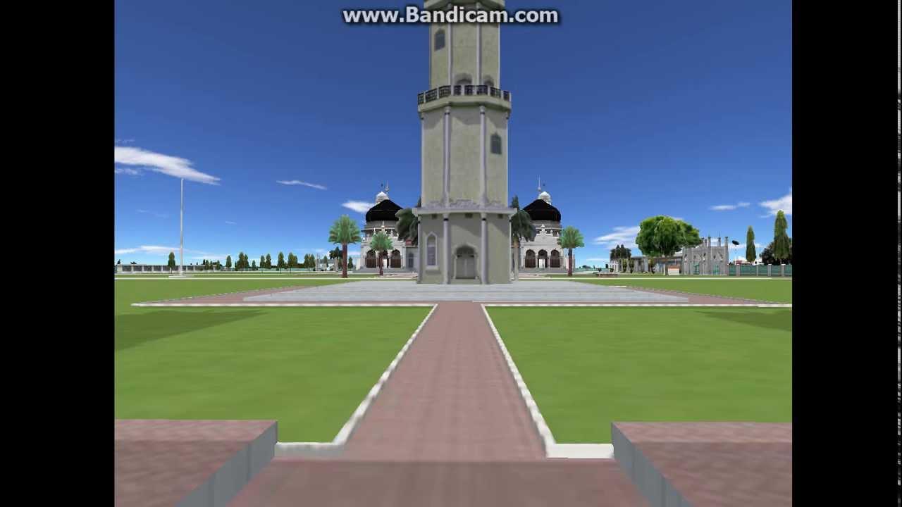 Masjid Raya Baiturrahman Banda Aceh 3d Youtube Kota