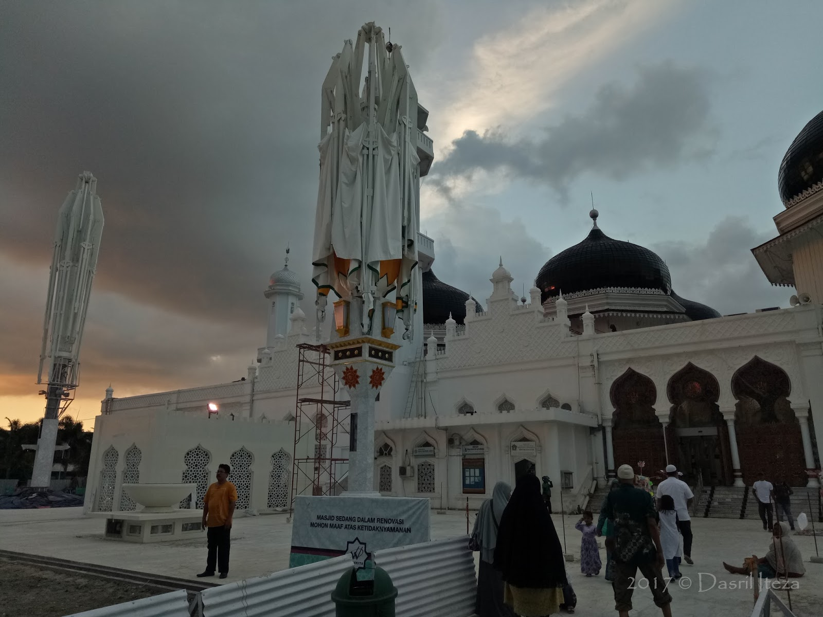 Masjid Raya Baiturrahman Banda Aceh Jepang Mengukur Ketinggian Ombak Tinggi