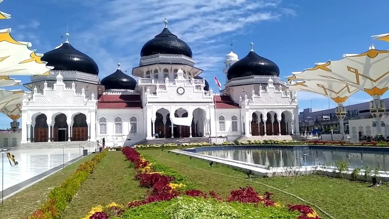 Masjid Raya Baiturrahman Menawan Aceh Travel Today Indah Megahnya Kota