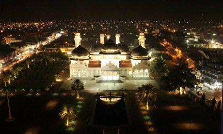 Masjid Raya Baiturrahman Sebuah Berada Pusat Kota Banda Aceh
