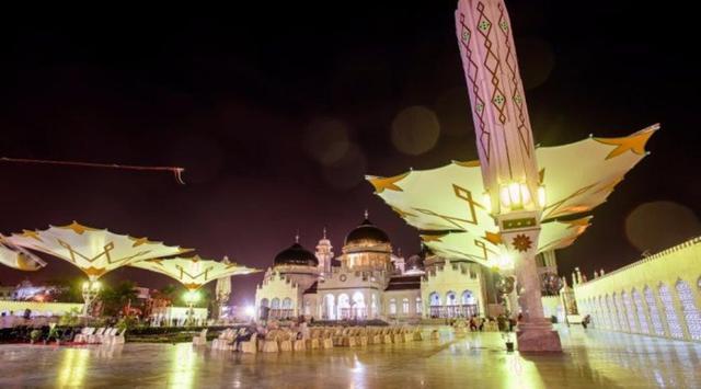 Megahnya Masjid Raya Baiturrahman Banda Aceh Menyerupai Berdiri Megah Jantung