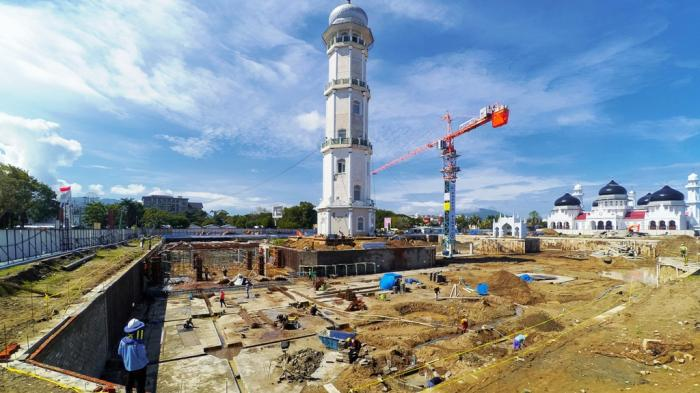 Mengintip Proyek Megah Masjid Raya Baiturrahman Aceh Tribunnews Kota Banda