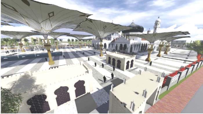 Menyulap Baiturrahman Mirip Masjid Nabawi Aceh Online Magazine Rencana Pengembangan