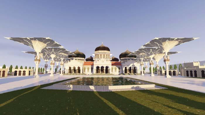 Mrb Diharapkan Ramah Disabilitas Serambi Indonesia Banda Aceh Masjid Raya