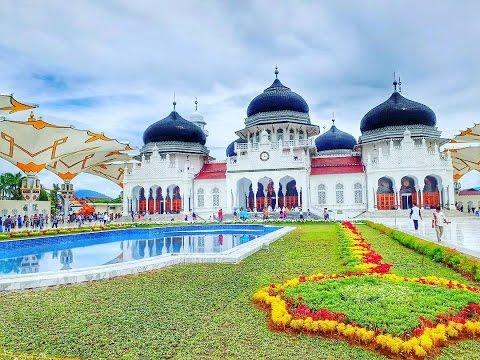 Wajah Masjid Raya Baiturrahman Banda Aceh Youtube Kota