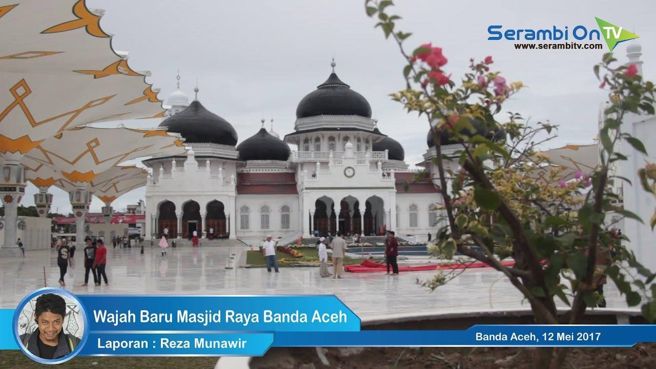 Wajah Masjid Raya Banda Aceh Youtube Baiturrahman Kota