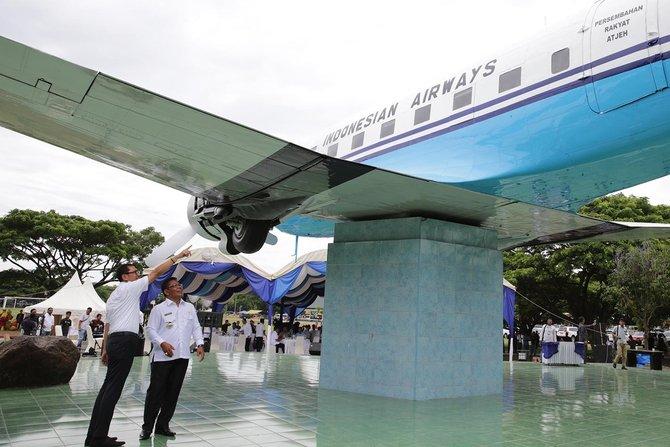 Dicat Ulang Diperbaiki Wajah Replika Pesawat Seulawah Aceh 2018 Merdeka