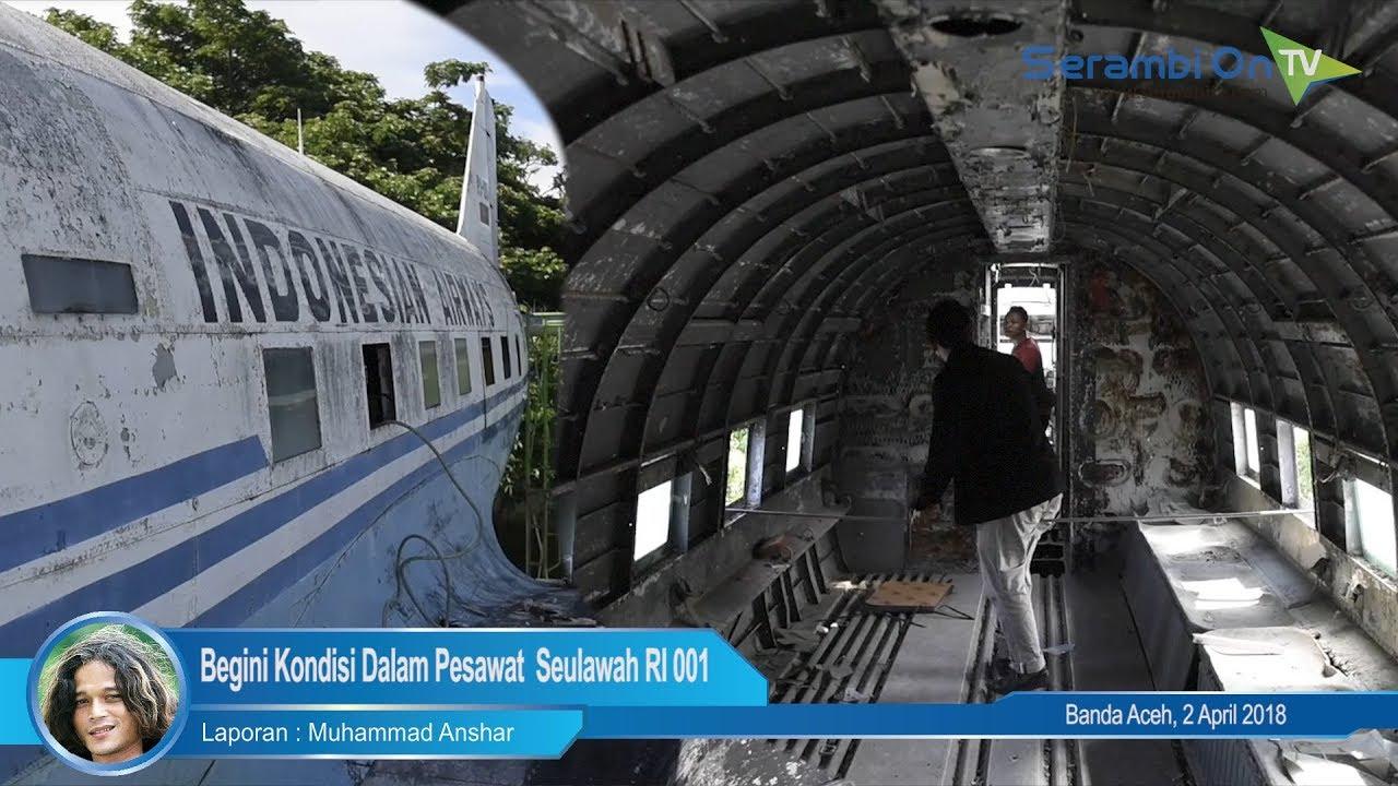 Kondisi Kabin Pesawat Dakota Dc 3 Seulawah Ri 001 Blangpadang
