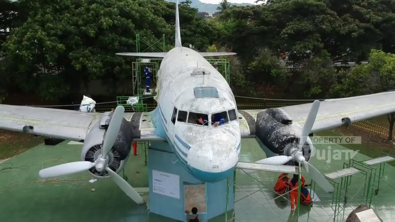 Monumen Pesawat Dacota Ri 001 Direnovasi Youtube Kota Banda Aceh