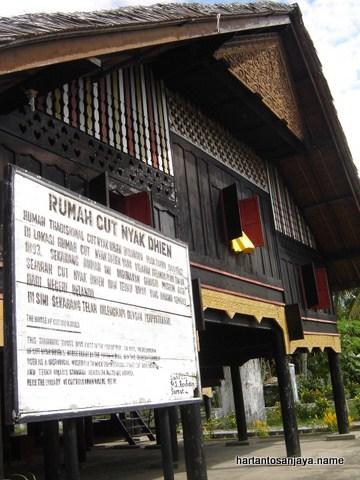 Aceh Indonesia Indah Jalan Banda Meulaboh Km 7 Rumah Cut