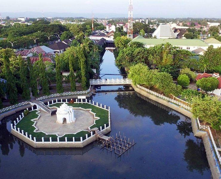 Busy Wisata Taman Putroe Phang Banda Aceh Indonesia Kota