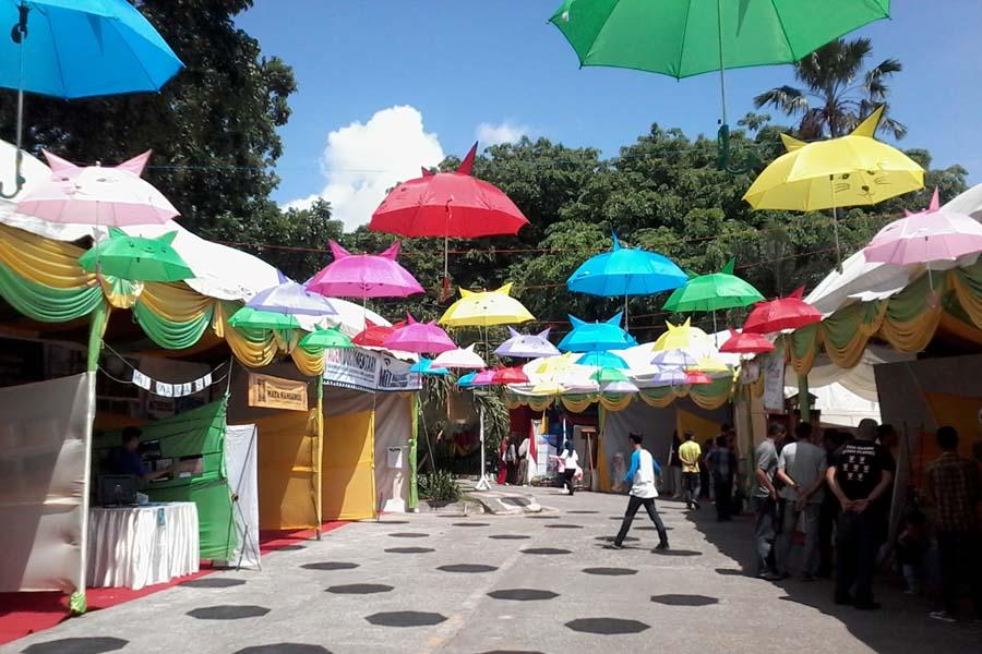 Hari Terakhir Pekan Kreatif Banda Aceh Taman Putroe Phang Dipadati
