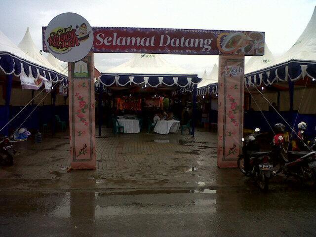 Festival Kuliner Aceh Digelar Banda Disbudparaceh Pintu Masuk Taman Sri