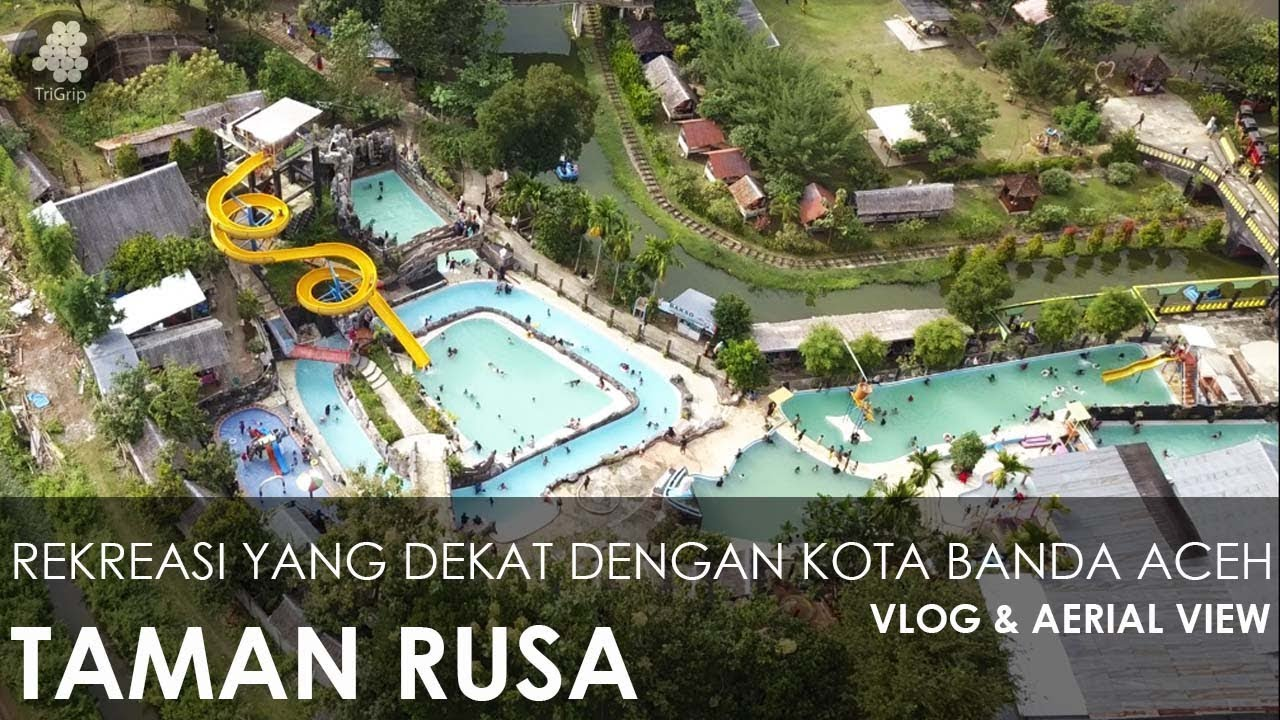 Taman Rusa Aceh Besar Aerial View Vlog Youtube Wahana Impian