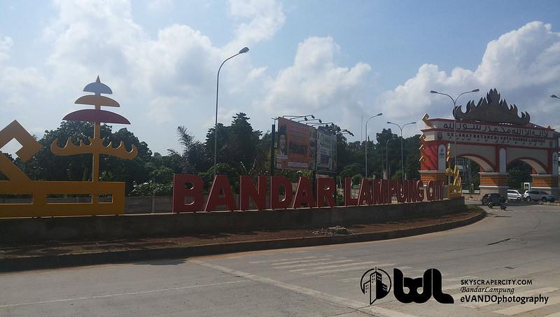 Bandar Lampung Streetscape City Transportation Images Gerbang Kota Rajabasa Hajimena