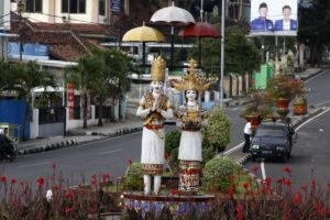 Foto Kondisi Patung Bandarlampung Lampungnews Tugu Pengantin Berada Lungsir Sekitar