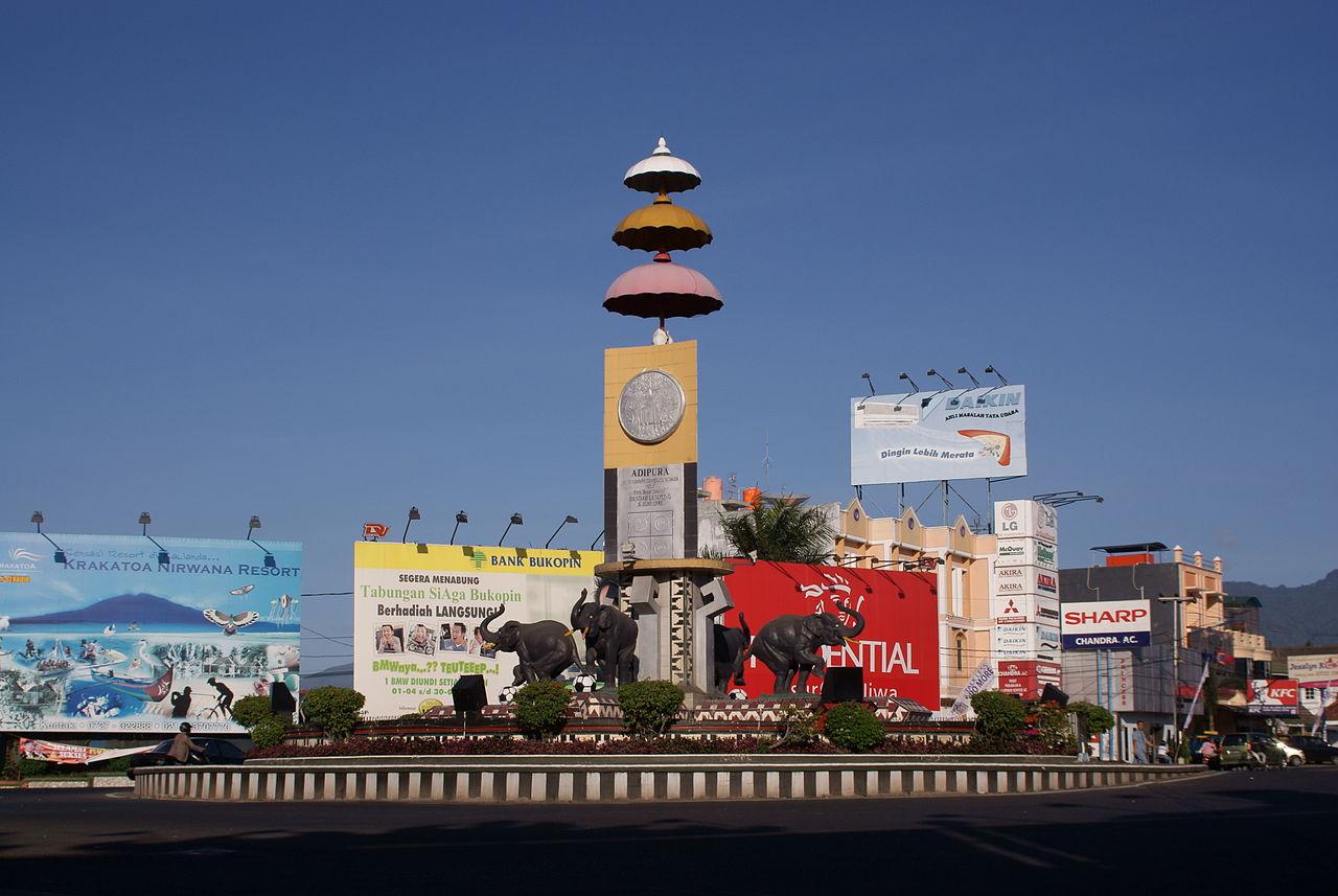 Kota Bandar Lampung Wikiwand Lungsir Taman