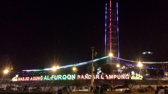 Masjid Agung Al Furqon Bandar Lampung Indonesia Review Lungsir Taman