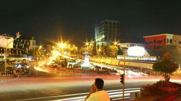 Video Serunya Wisata Malam Lungsir Tribun Lampung Taman Kota Bandar