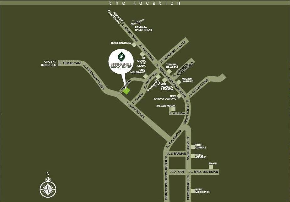 Springhill Bandar Lampung Real Estatejl Imam Bonjol Km 11 Bukit