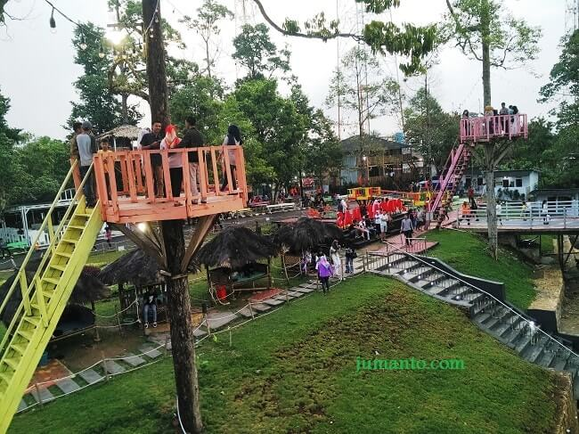 Puncak Mas Lampung Sukadanaham Bikin Klepek Fasilitas Rumah Pohon Buat