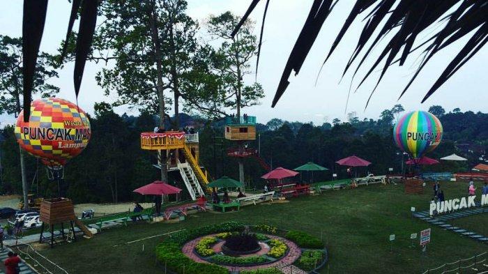 Puncak Mas Tempat Wisata Tengah Kota Tribun Lampung Bandar