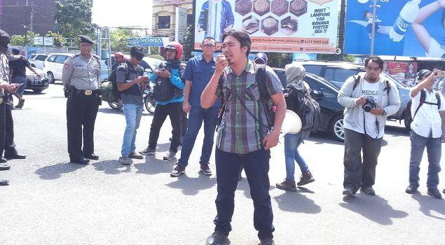 Aji Bandar Lampung Duajurai Aliansi Jurnalis Independen Kota Mengecam Aksi
