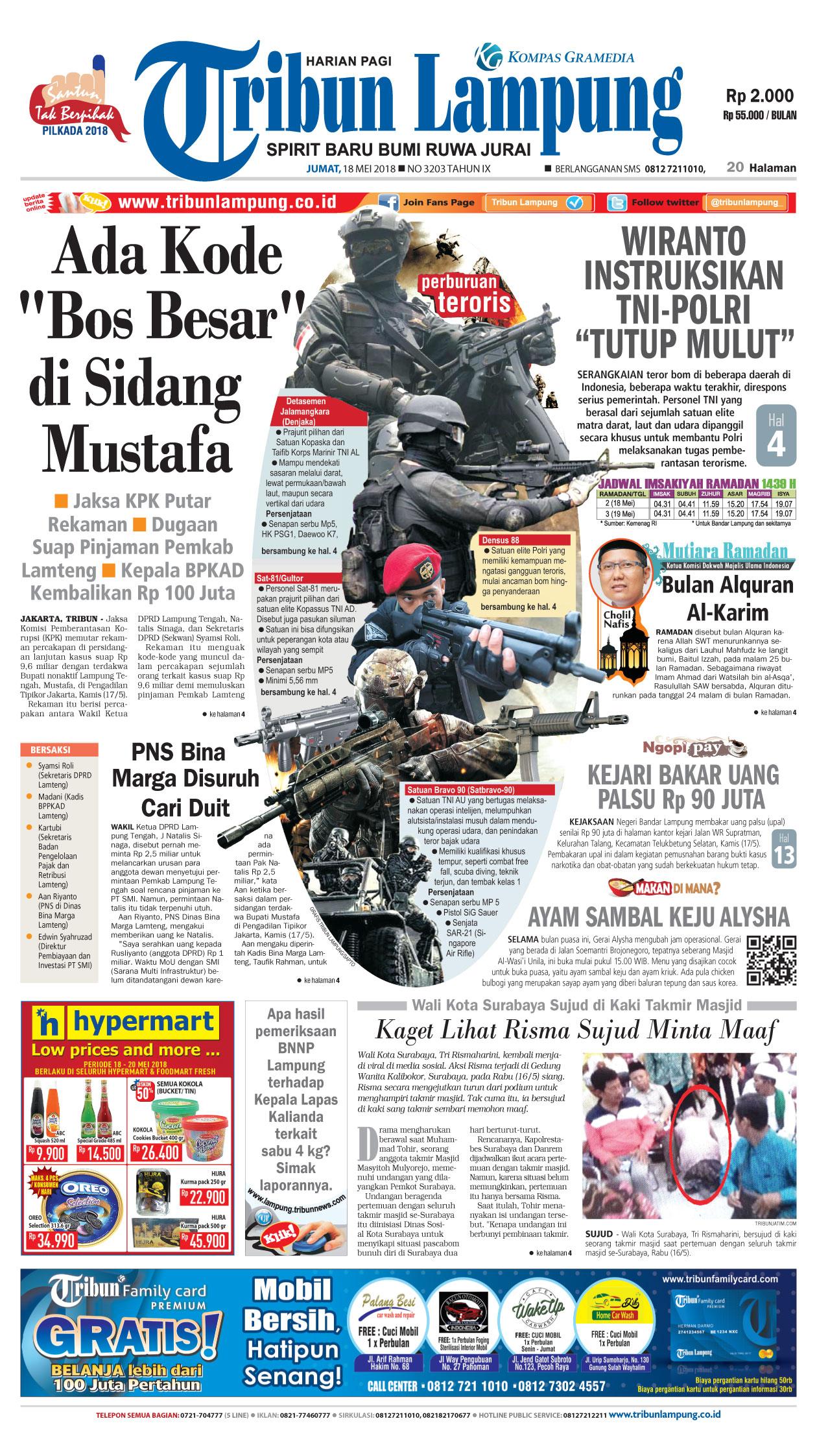 Tapak Jejak Tribun Lampung Hari Surat Kabar Harian Terbit Berkantor