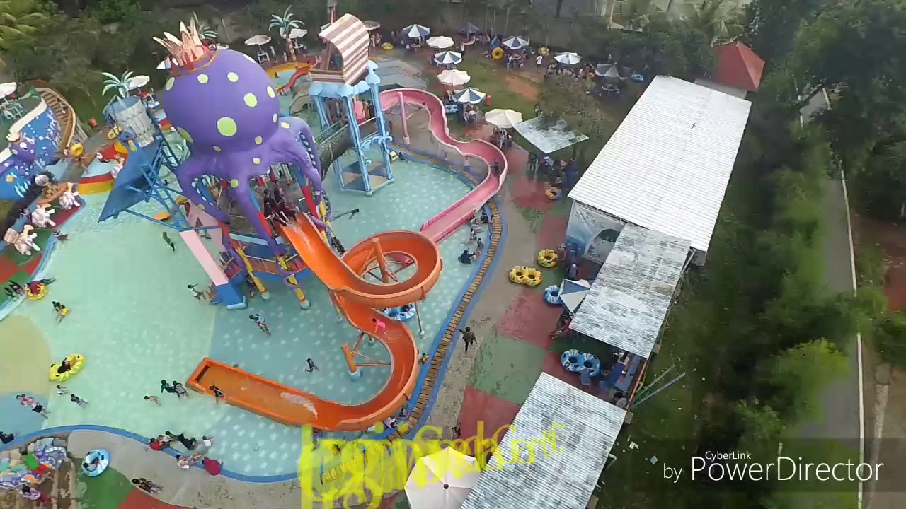 Kolam Renang Citra Garden Lampung Youtube Taman Air Kota Bandar