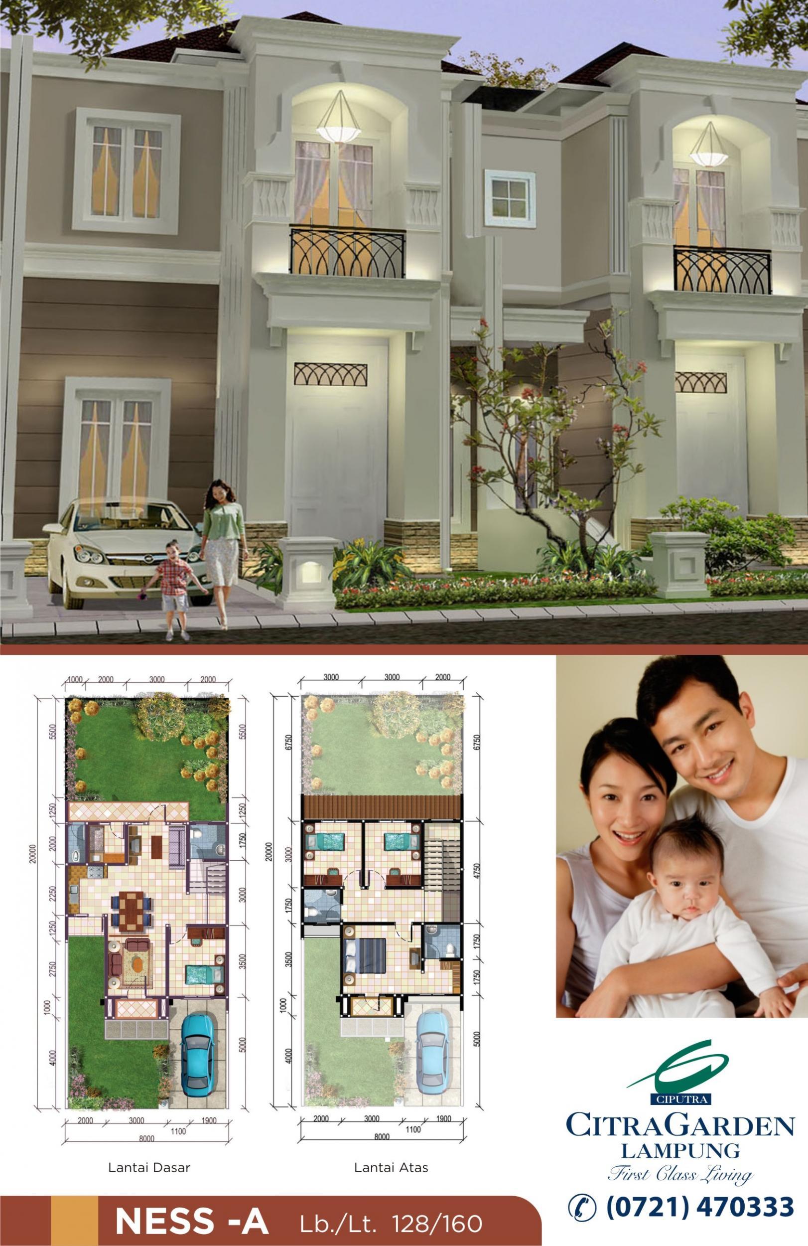 Rumah Dijual 085378098107 Hunian Mewah Citra Garden Lampung Taman Air