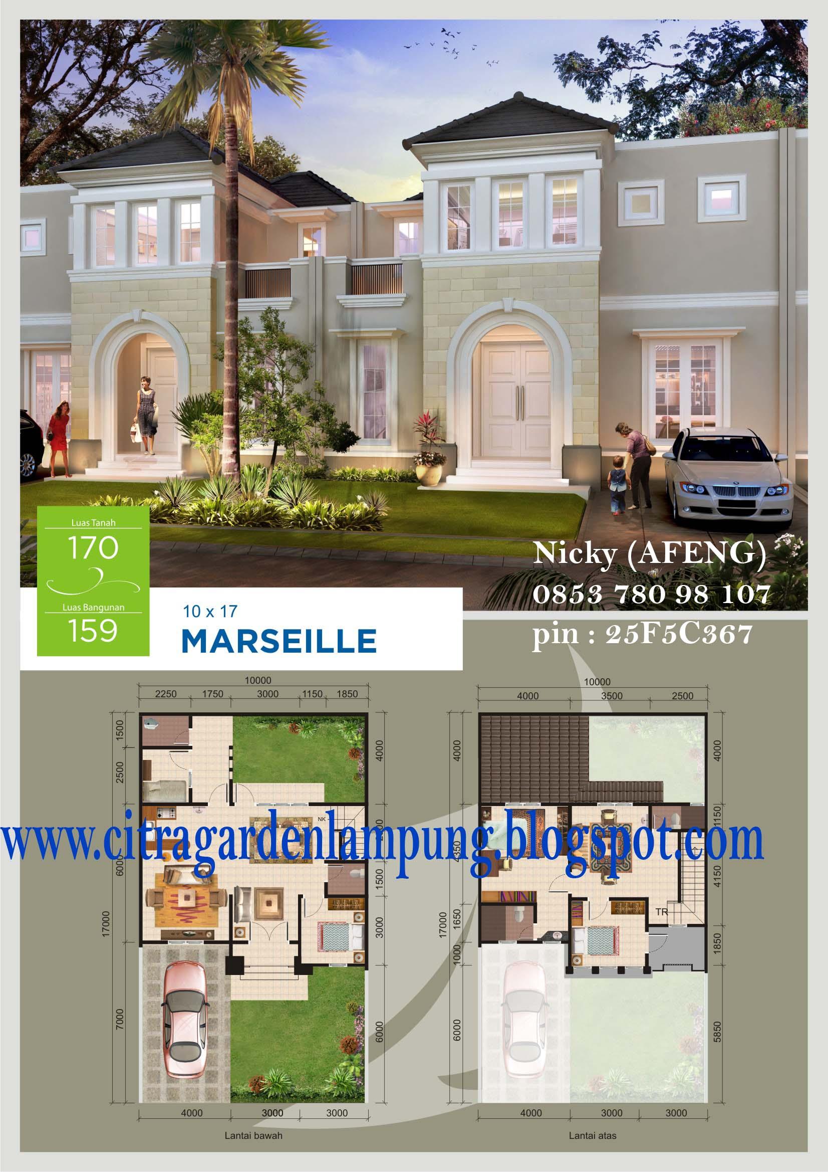 Rumah Dijual Citra Garden Lampung Siap Huni Akhir 2012 Taman
