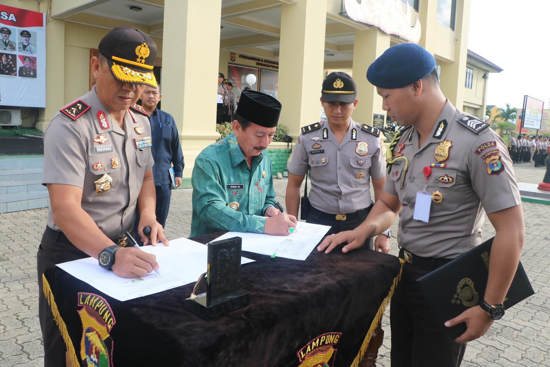 Penandatanganan Berita Acara Penyerahan Aset Pemerintah Tanah Taman Tribratanews Polri