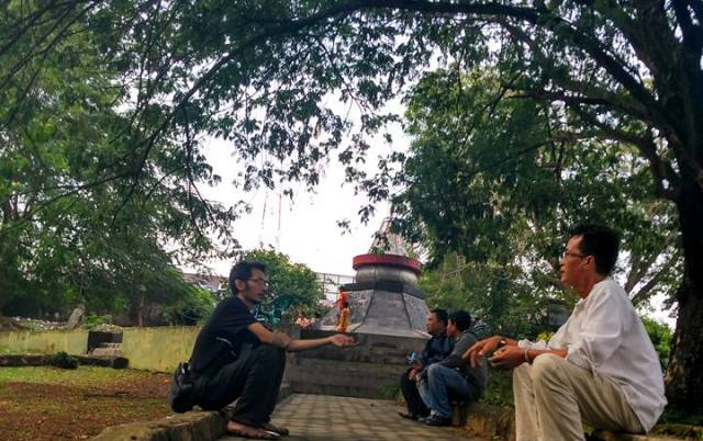 Taman Dipangga Saksi Dahsyatnya Letusan Krakatau Perluasan Penyair Arman Az
